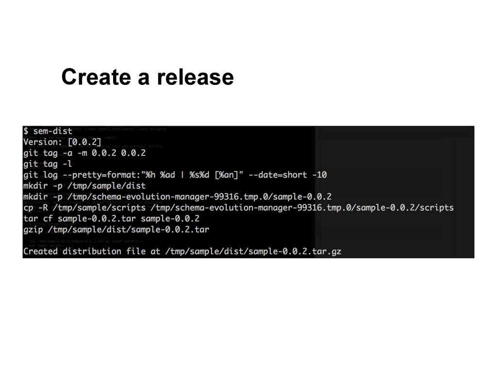 Create a release