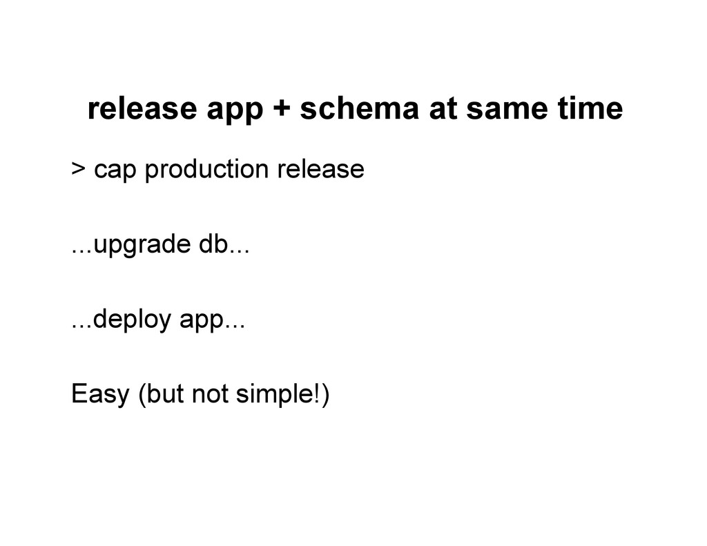 release app + schema at same time > cap product...