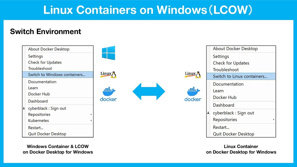 Linux Containers on Windows(LCOW) Switch Enviro...