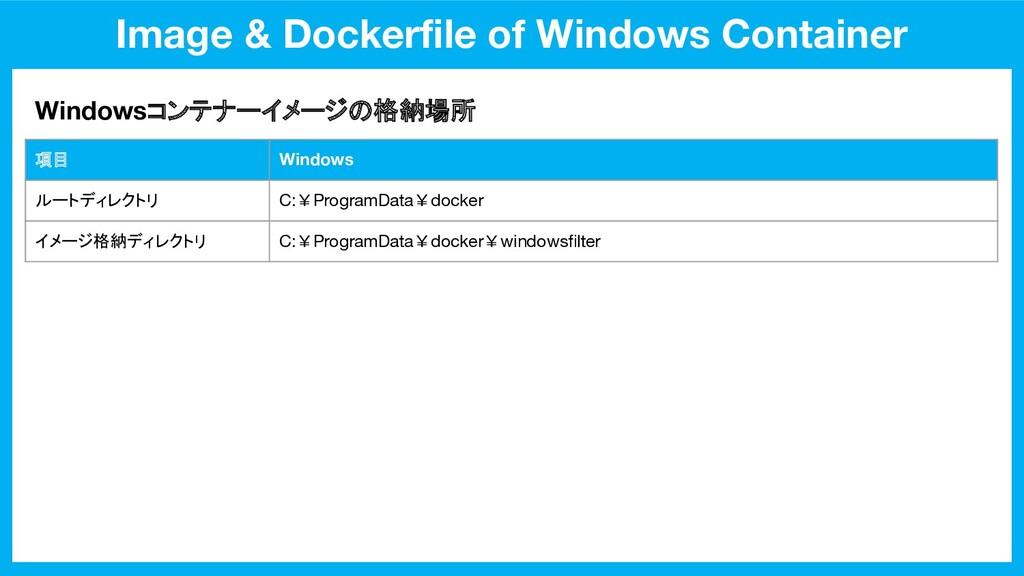 Image & Dockerfile of Windows Container Windowsコ...