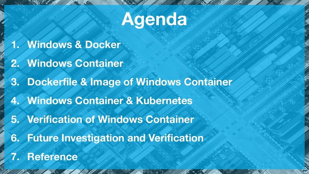 Agenda 1. Windows & Docker 2. Windows Container...