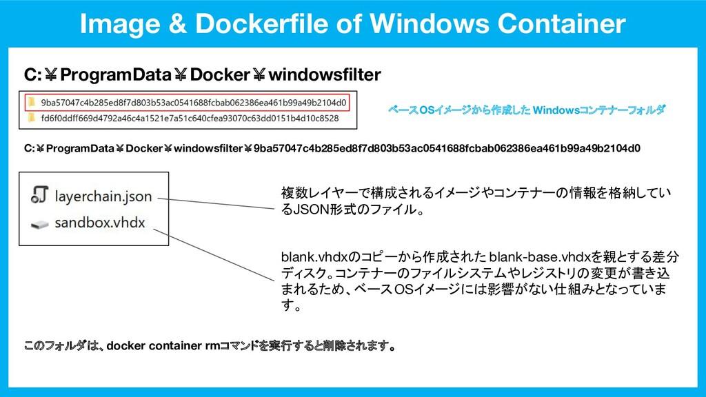 Image & Dockerfile of Windows Container C:¥Progr...