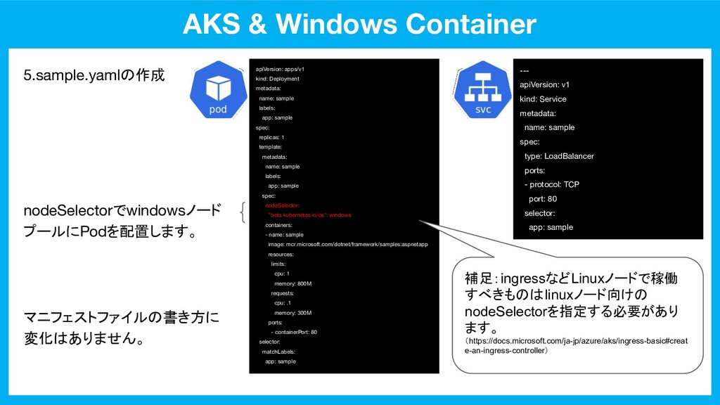 AKS & Windows Container apiVersion: apps/v1 kin...