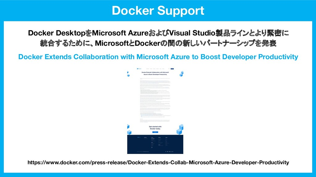 Docker Support Docker Extends Collaboration wit...