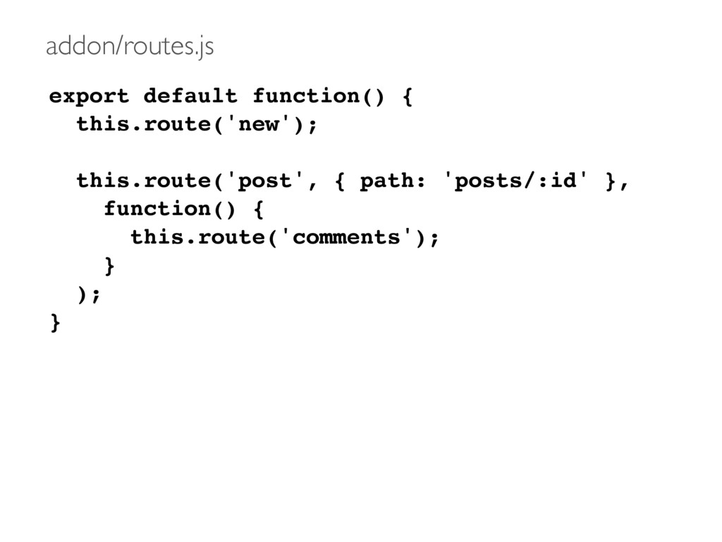 export default function() { this.route('new'); ...