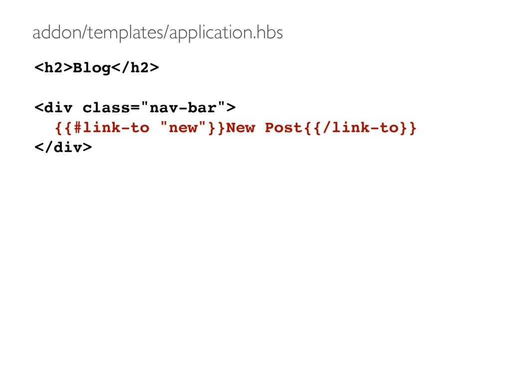 "<h2>Blog</h2> <div class=""nav-bar""> {{#link-to ..."