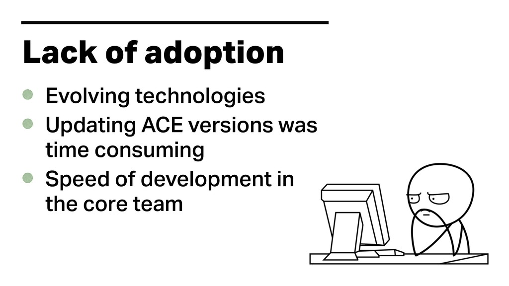 Lack of adoption Evolving technologies Updating...
