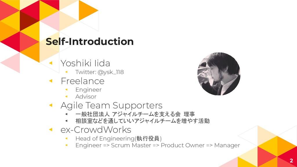 Self-Introduction ◂ Yoshiki Iida ◂ Twitter: @ys...
