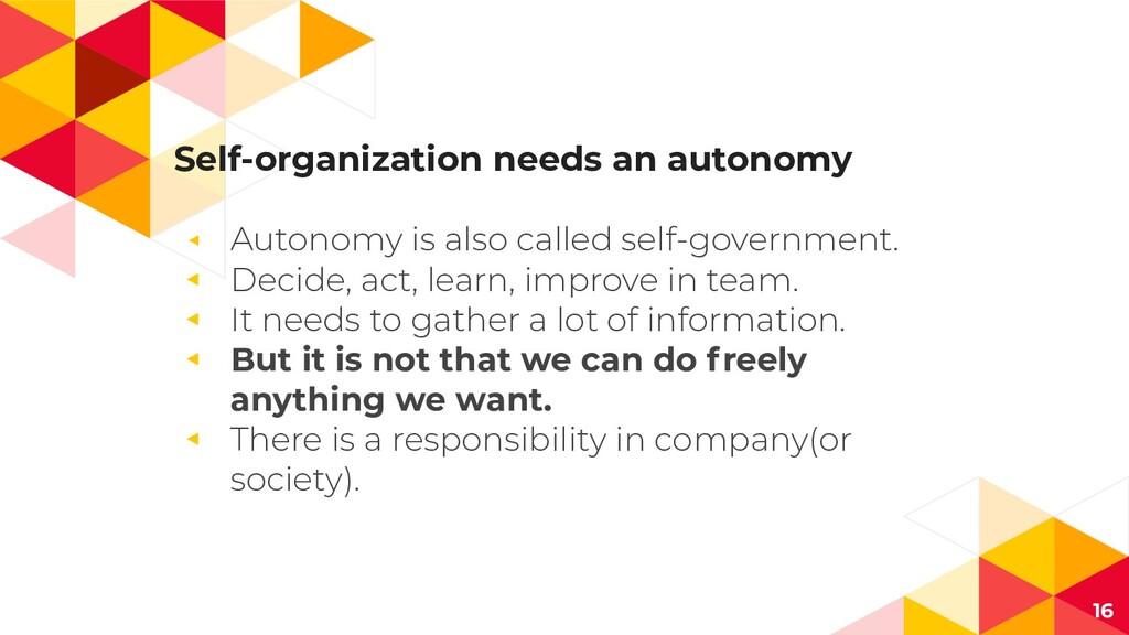 Self-organization needs an autonomy ◂ Autonomy ...
