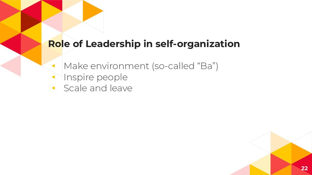 Role of Leadership in self-organization ◂ Make ...