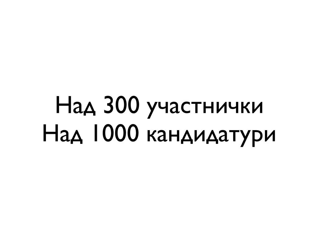 Над 300 участнички Над 1000 кандидатури