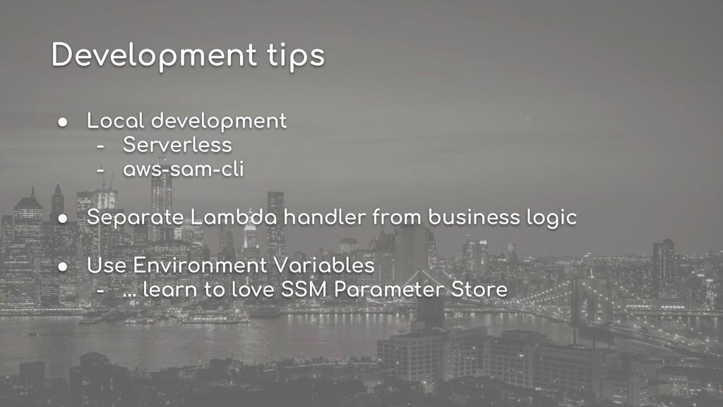 ● Local development - Serverless - aws-sam-cli ...