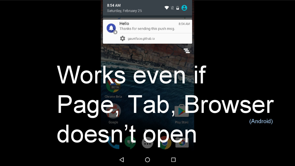 28 Works even if Page, Tab, Browser doesn't ope...