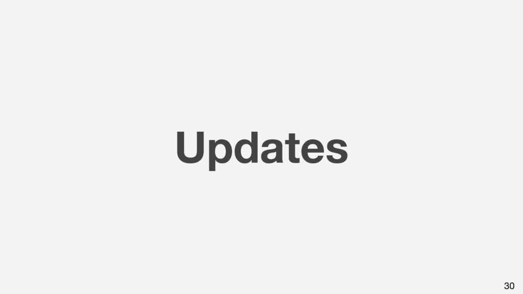 Updates 30
