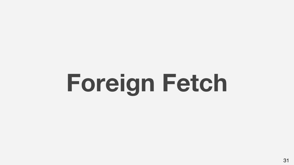 Foreign Fetch 31