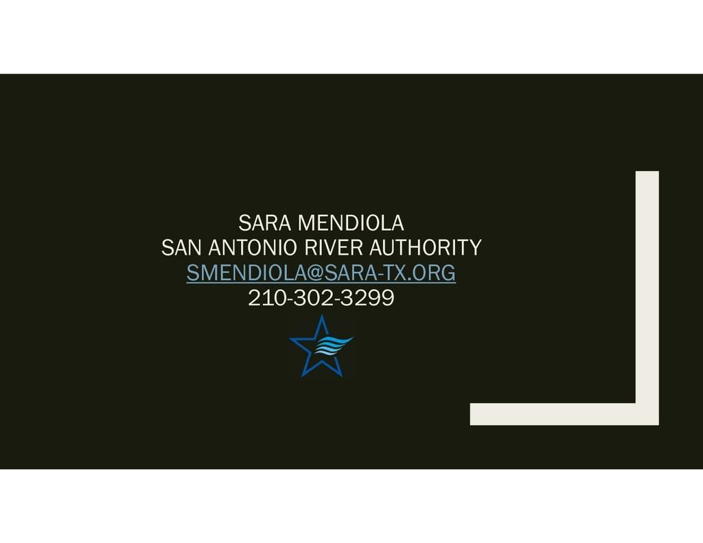 SARA MENDIOLA SAN ANTONIO RIVER AUTHORITY SMEND...