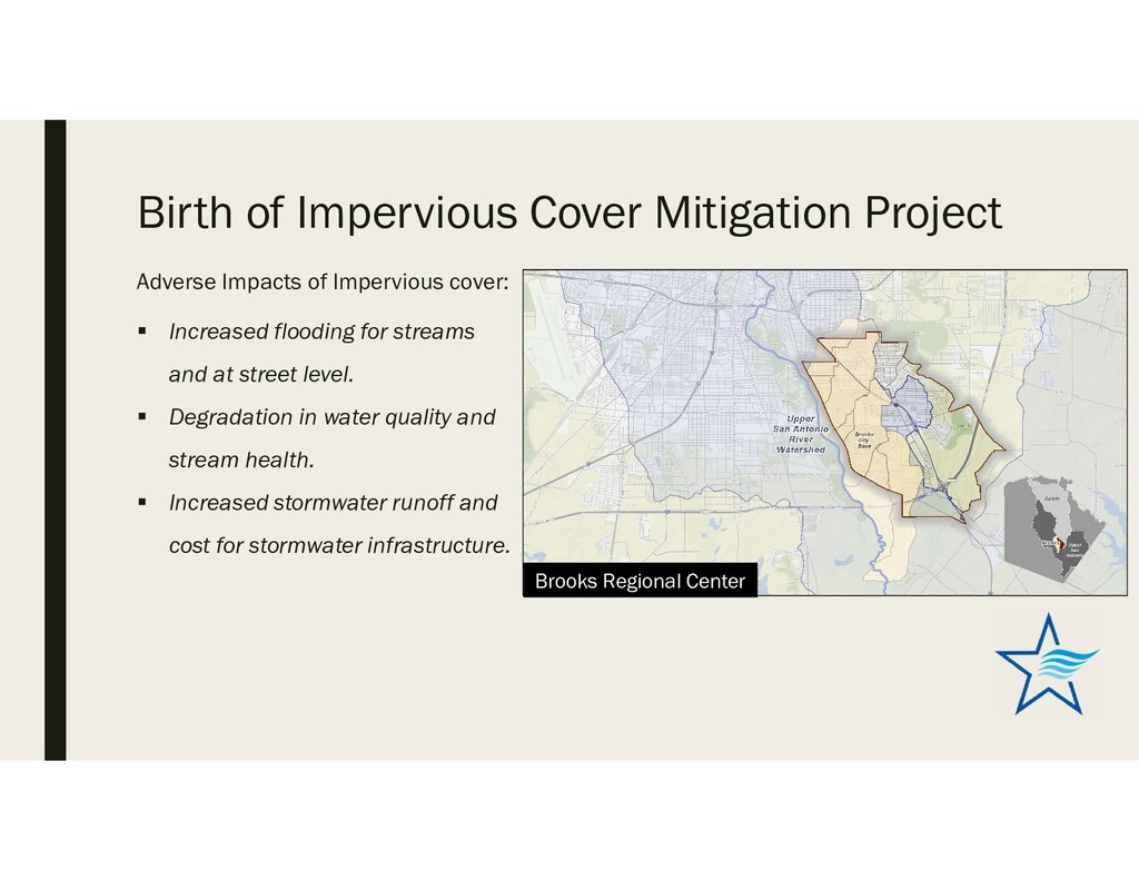 Birth of Impervious Cover Mitigation Project Ad...