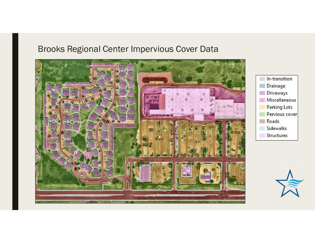 Brooks Regional Center Impervious Cover Data