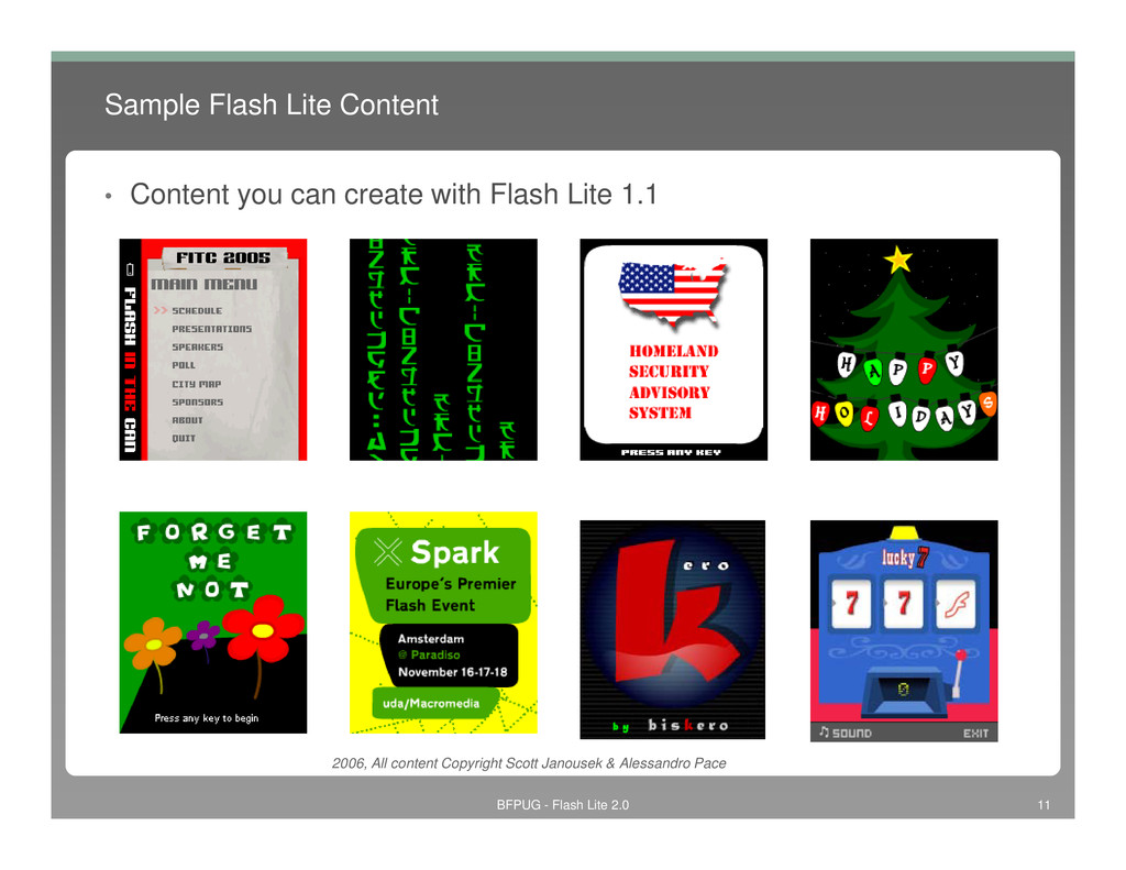 Sample Flash Lite Content • Content you can cre...