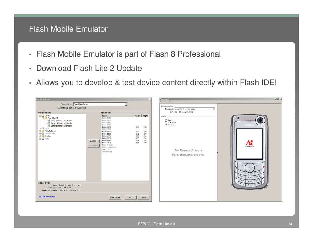 Flash Mobile Emulator • Flash Mobile Emulator i...