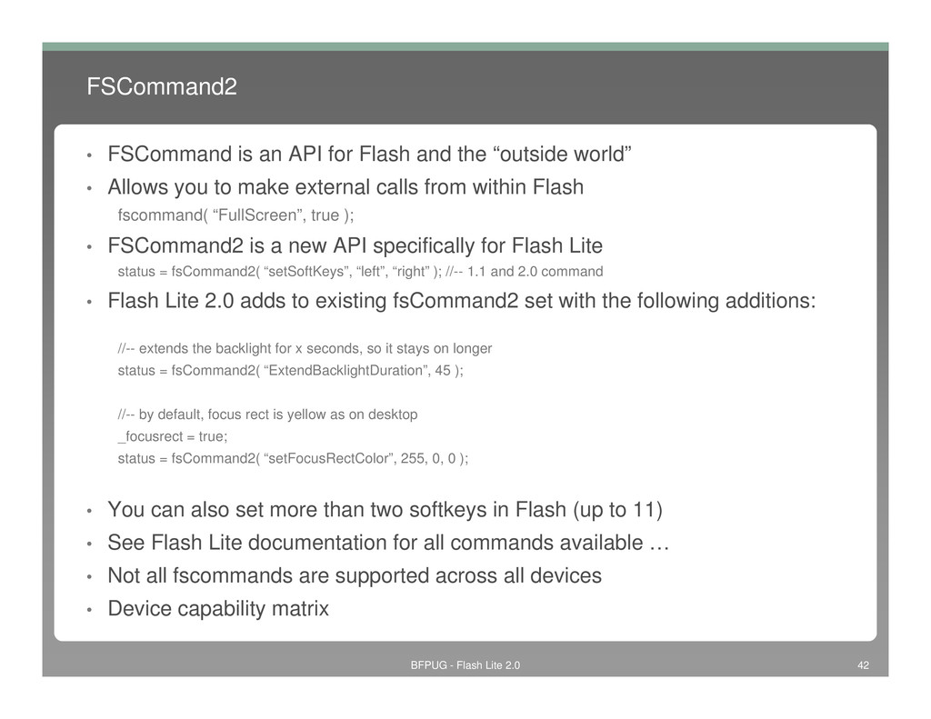 FSCommand2 • FSCommand is an API for Flash and ...