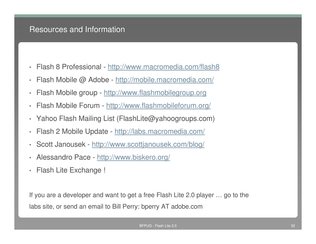 Resources and Information • Flash 8 Professiona...