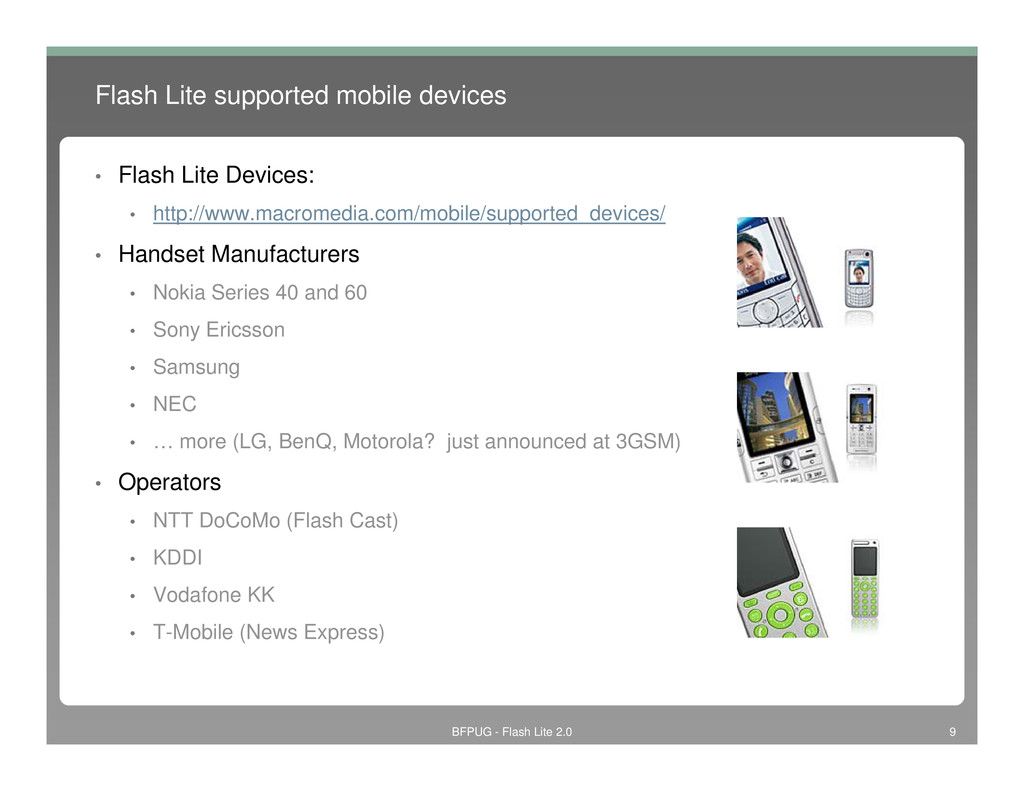 Flash Lite supported mobile devices • Flash Lit...