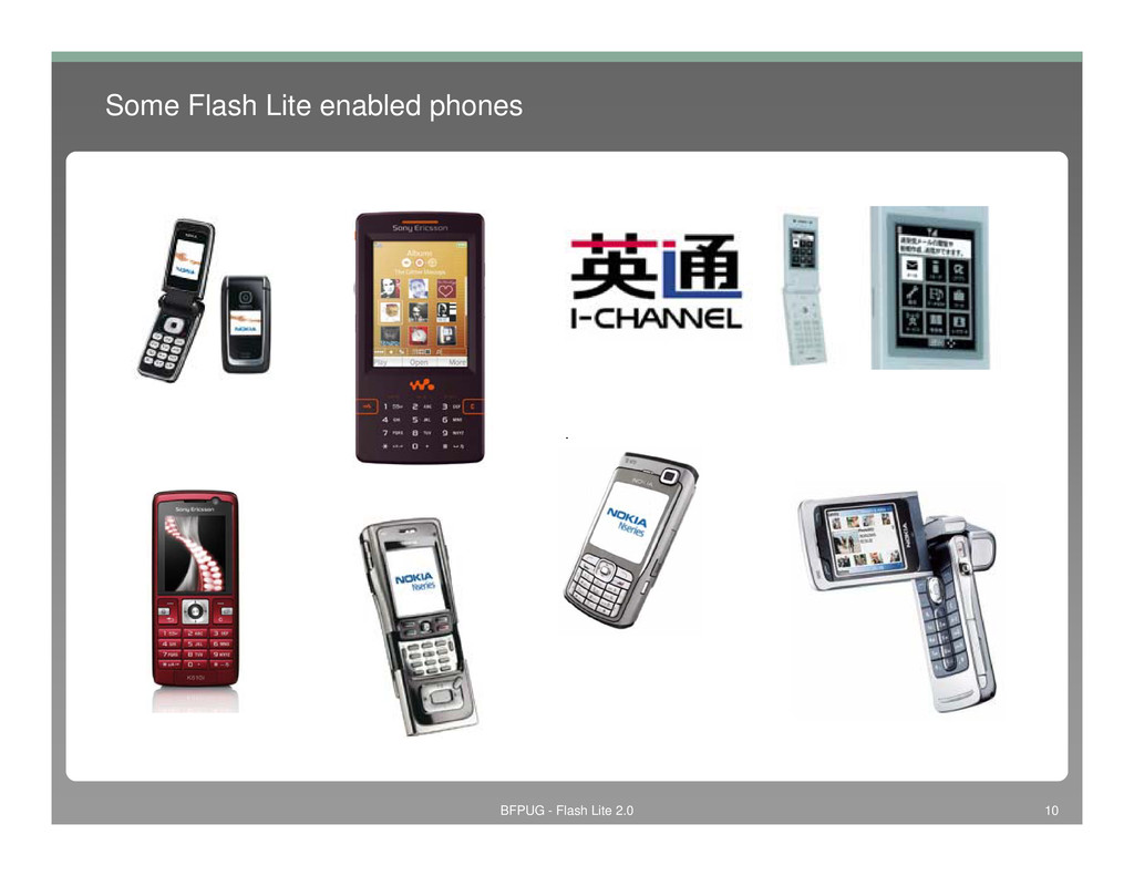 Some Flash Lite enabled phones BFPUG - Flash Li...