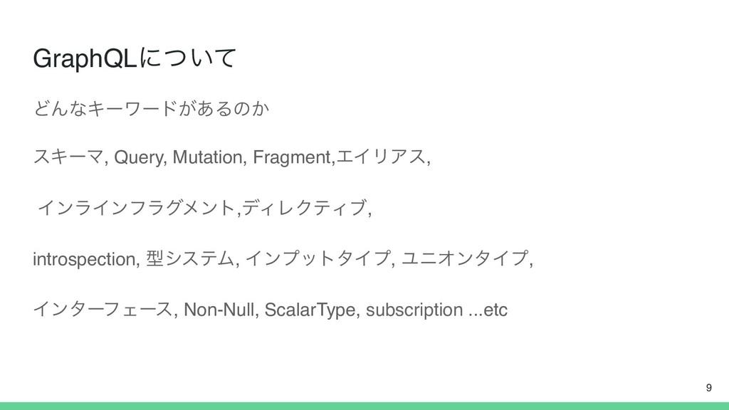 GraphQLʹ͍ͭͯ ͲΜͳΩʔϫʔυ͕͋Δͷ͔ εΩʔϚ, Query, Mutation...