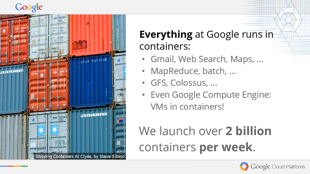 Everything at Google runs in containers: • Gmai...