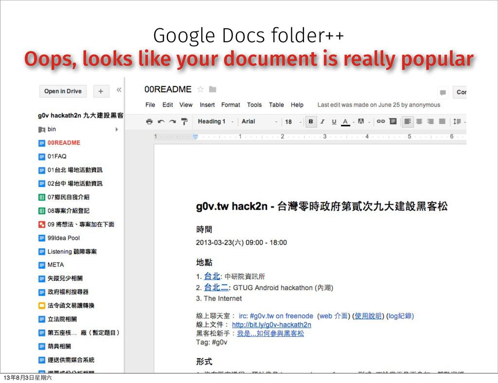 Google Docs folder++ Oops, looks like your docu...