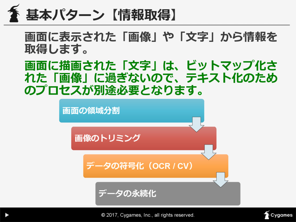 © 2017, Cygames, Inc., all rights reserved. 基本パ...