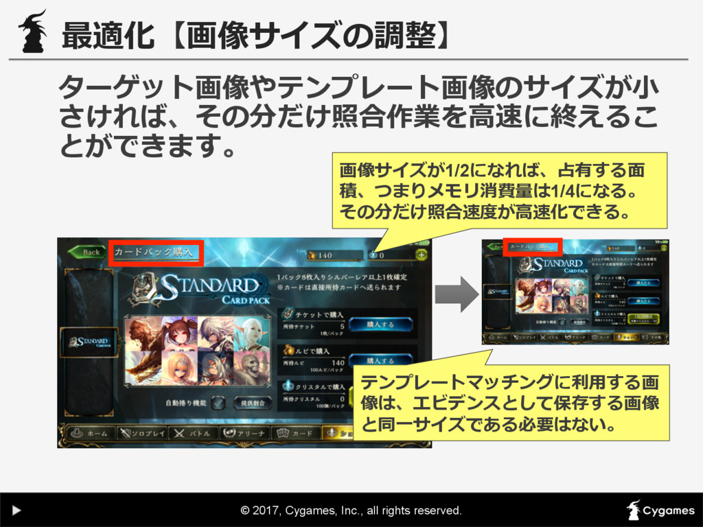 © 2017, Cygames, Inc., all rights reserved. 最適化...