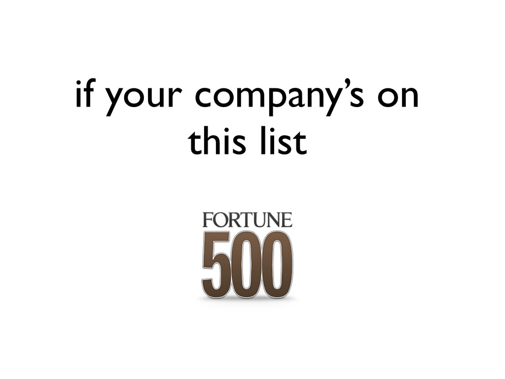 if your company's on this list