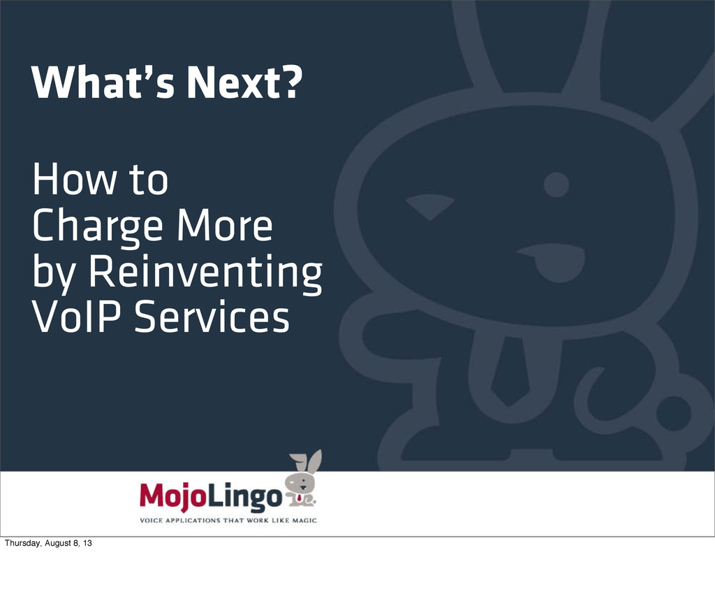 What's Next? How to Charge More by Reinventing ...