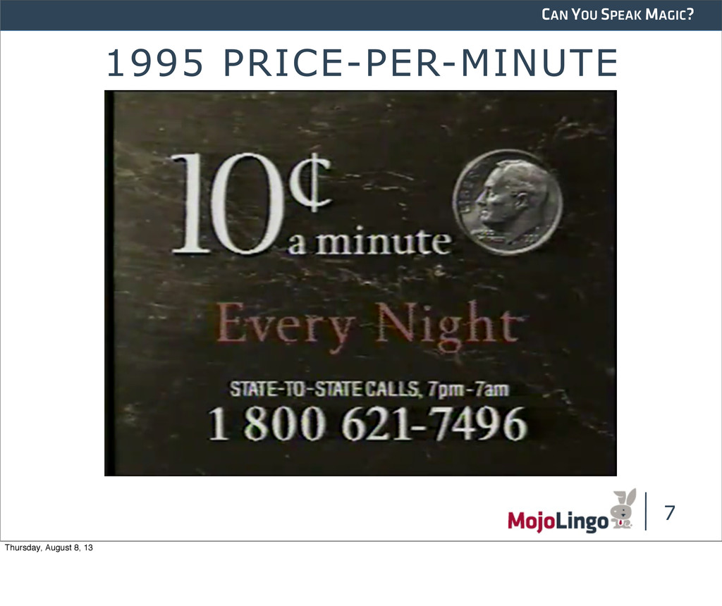CAN YOU SPEAK MAGIC? 1995 PRICE-PER-MINUTE 7 Th...
