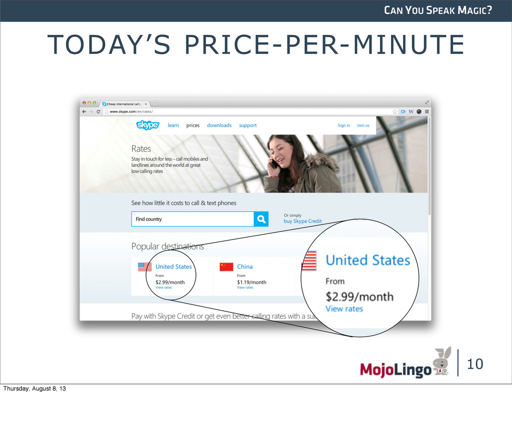 CAN YOU SPEAK MAGIC? TODAY'S PRICE-PER-MINUTE 1...