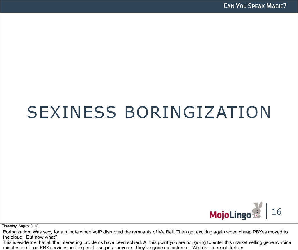 CAN YOU SPEAK MAGIC? SEXINESS BORINGIZATION 16 ...