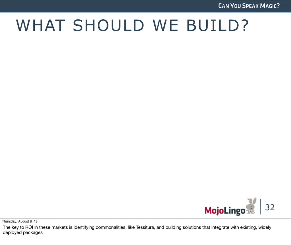 CAN YOU SPEAK MAGIC? WHAT SHOULD WE BUILD? 32 T...