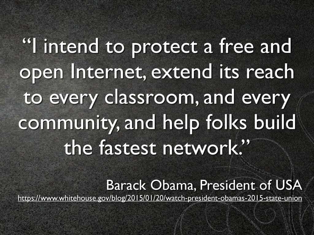 """""""I intend to protect a free and open Internet, ..."""