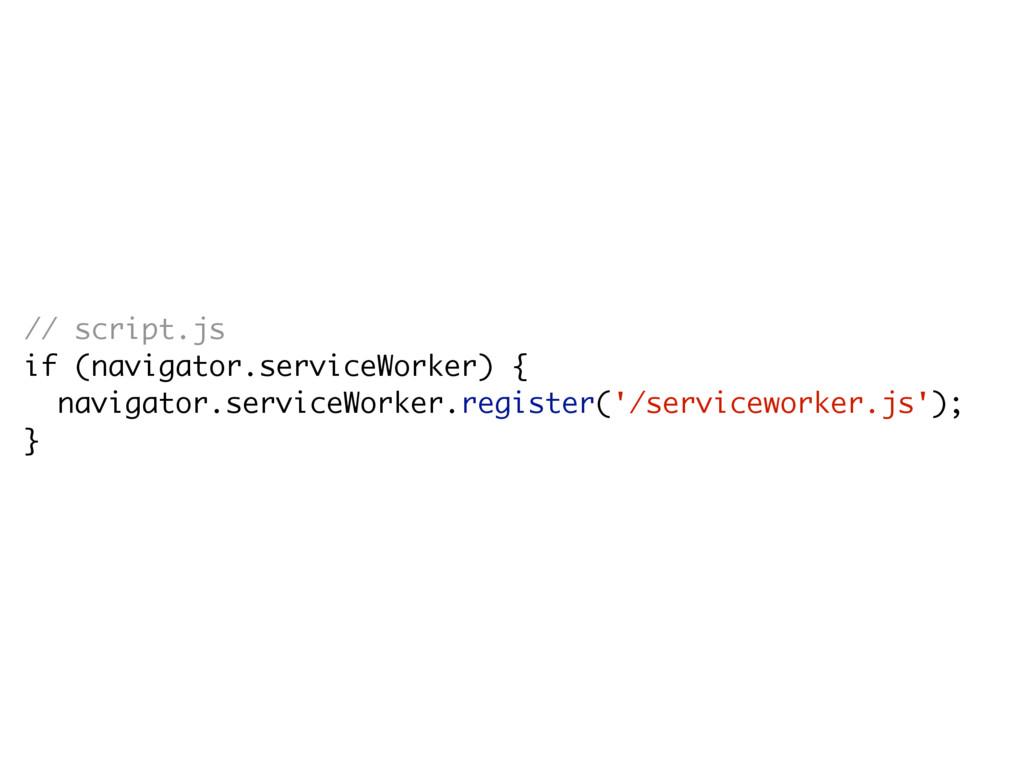 // script.js if (navigator.serviceWorker) { nav...