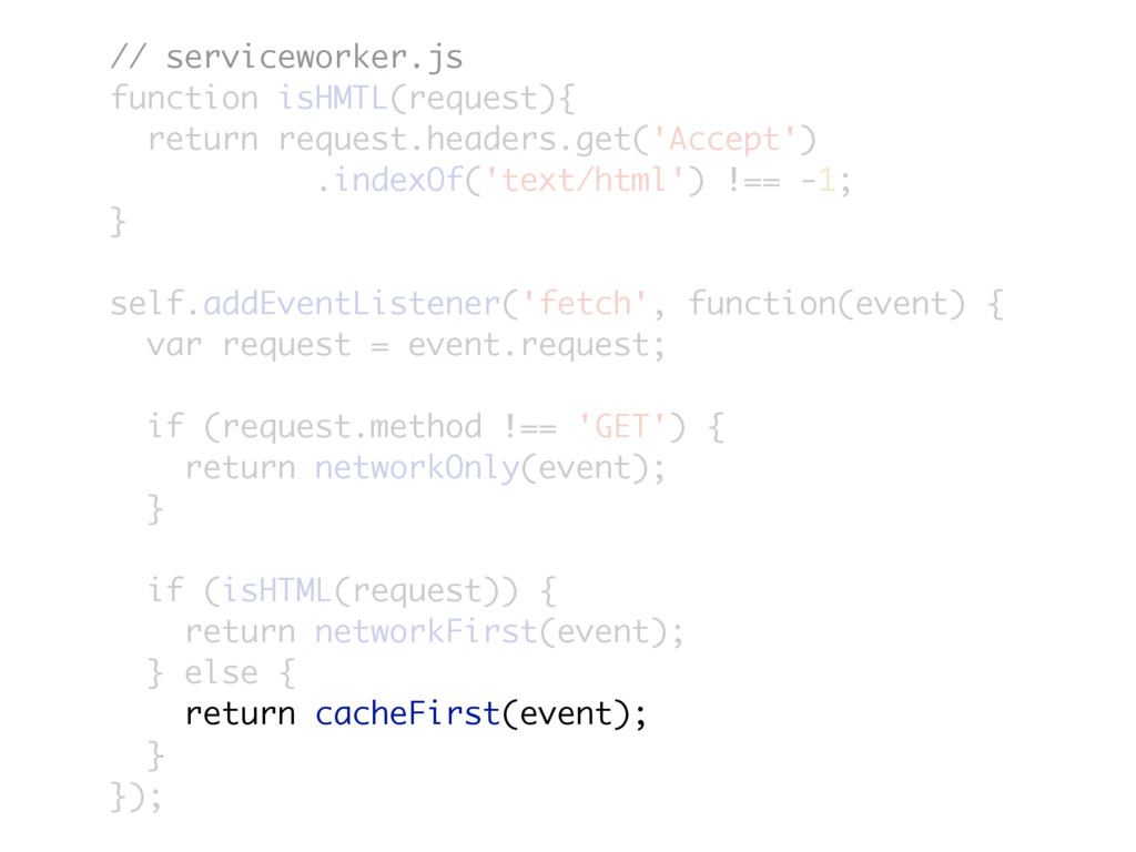 // serviceworker.js function isHMTL(request){ r...