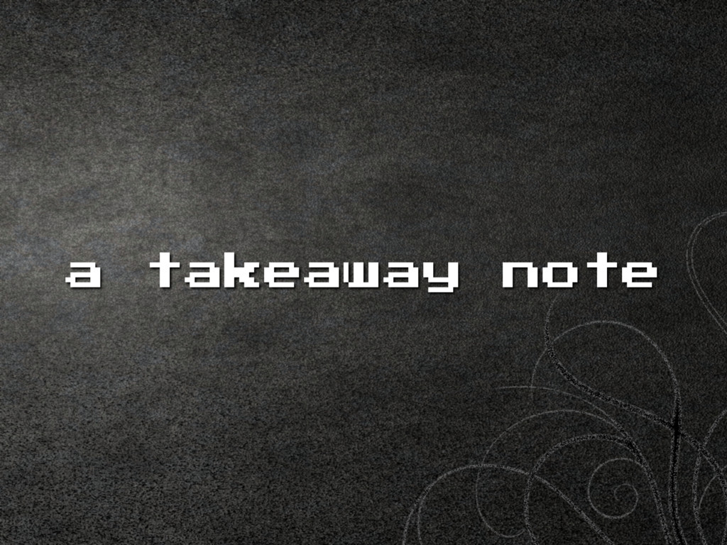 a takeaway note