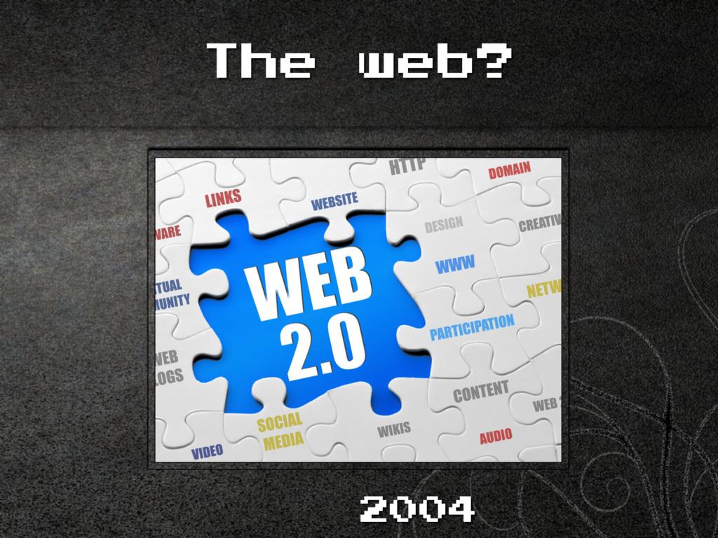 The web? 2004