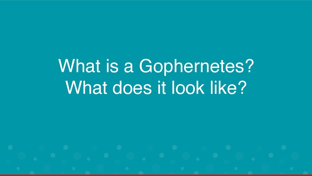 What is a Gophernetes? What does it look like?