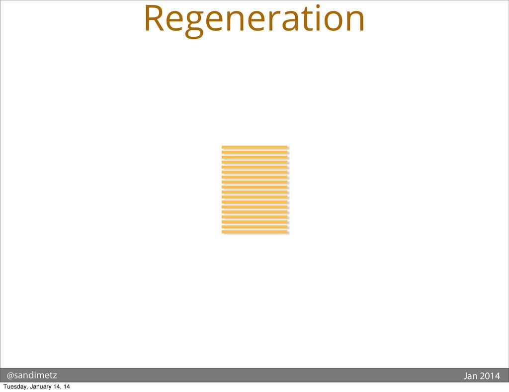 @sandimetz Jan 2014 Regeneration Tuesday, Janua...