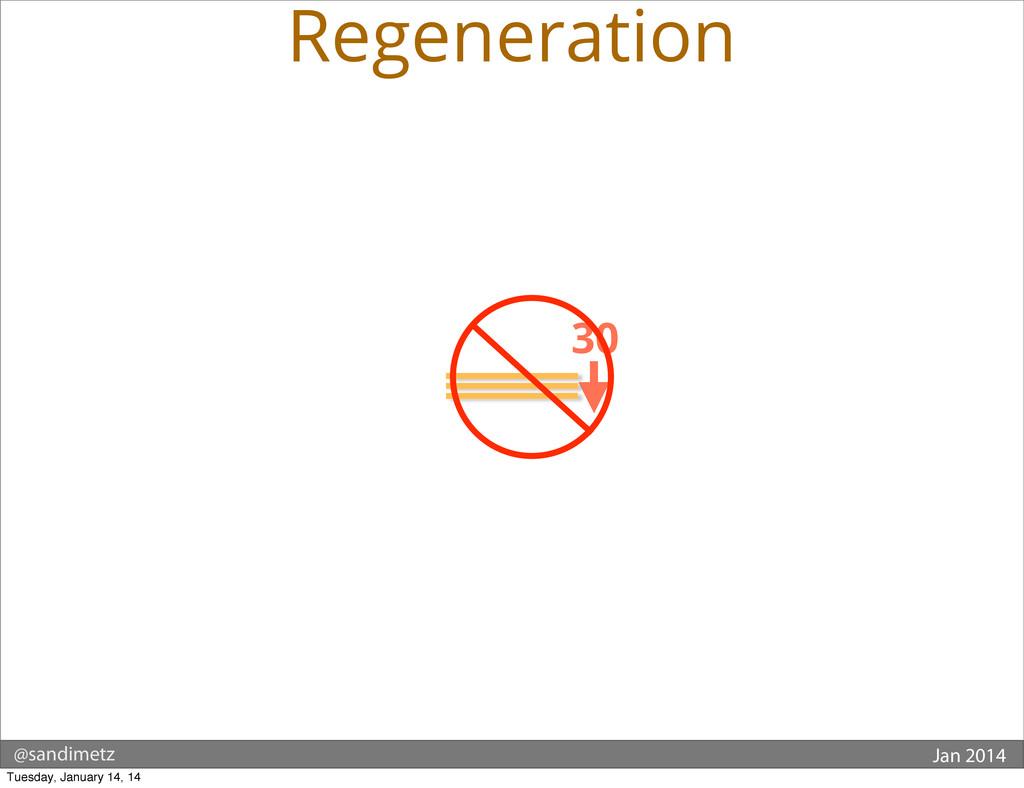 @sandimetz Jan 2014 30 Regeneration Tuesday, Ja...