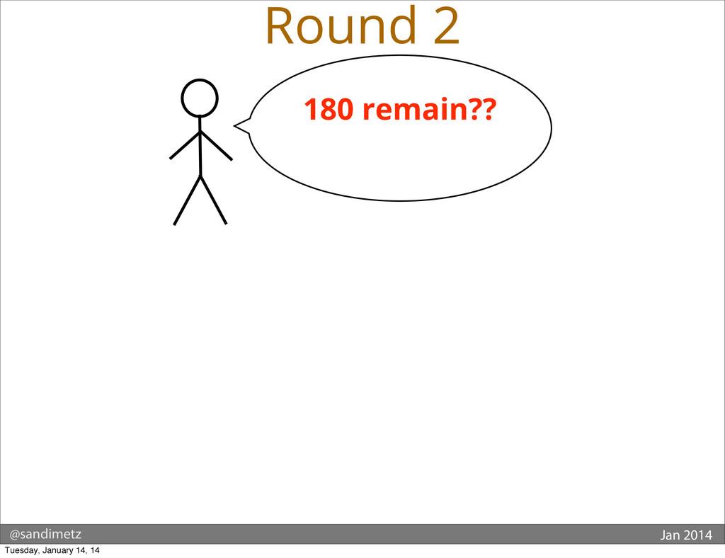 @sandimetz Jan 2014 Round 2 180 remain?? Tuesda...