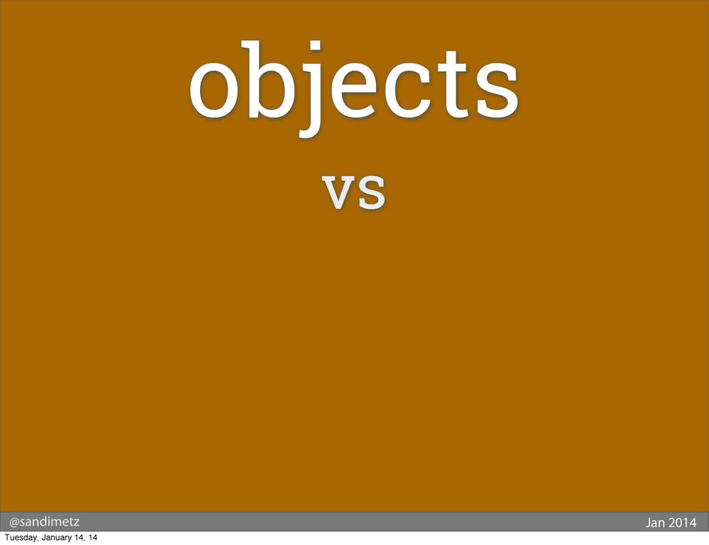 @sandimetz Jan 2014 objects vs Tuesday, January...