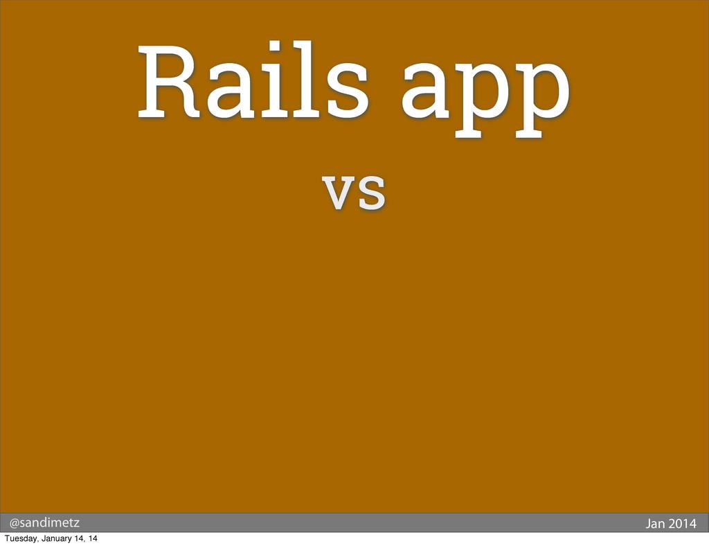 @sandimetz Jan 2014 Rails app vs Tuesday, Janua...